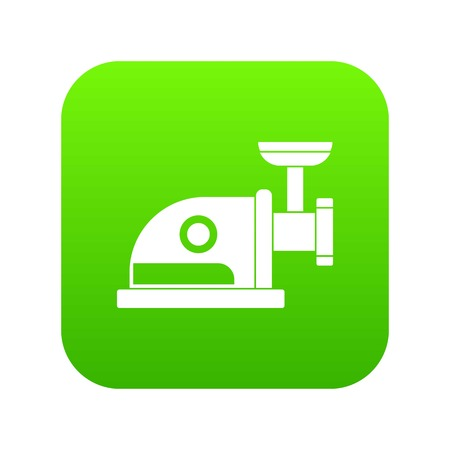 Electric grinder icon digital green for any design isolated on white vector illustration