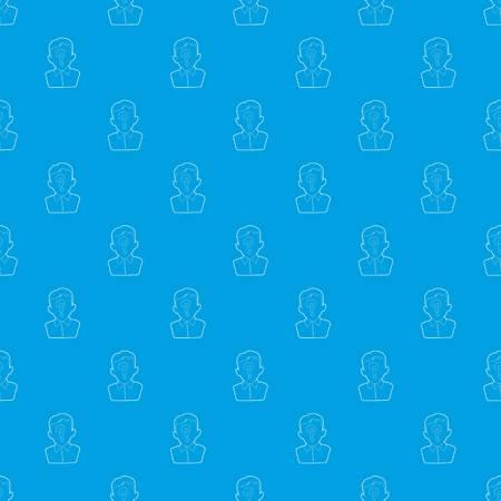 Hombre pregunta patrón vector azul transparente repetición para cualquier uso
