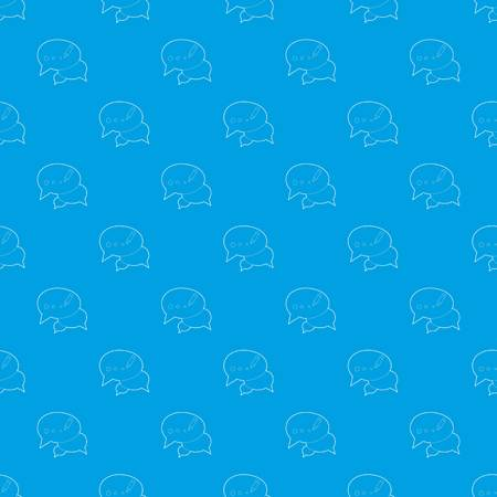 Chat pattern vector seamless blue