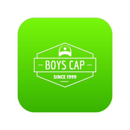 Cap icon green vector Illustration