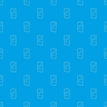Bookcase pattern vector seamless blue