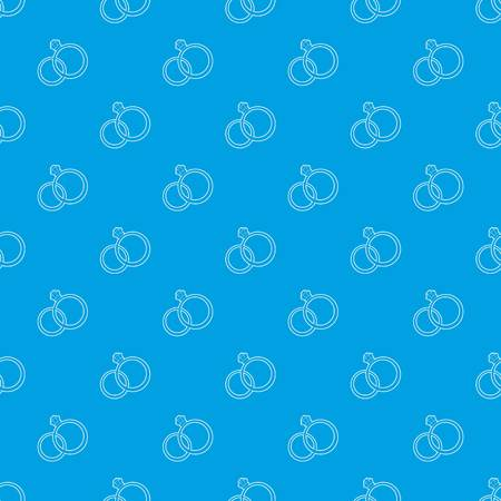 Wedding rings pattern vector seamless blue