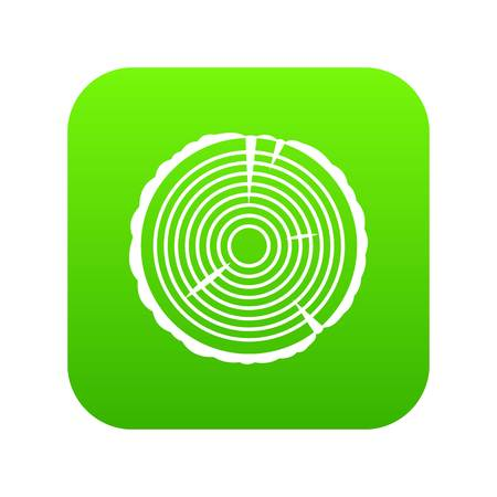 Tree ring icon digital green