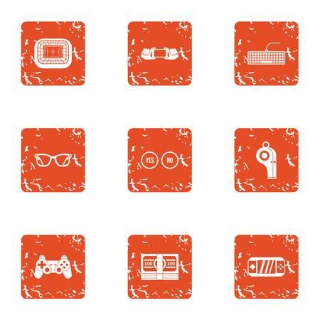 Geymdev icons set, grunge style