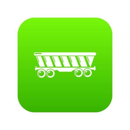 Balloon icon green vector
