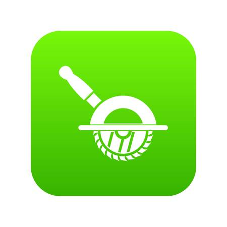 Circular saw icon digital green