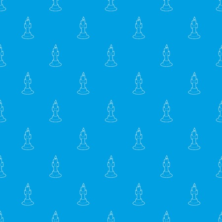 Candle pattern vector seamless blue 일러스트