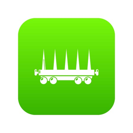 Delivery wagon icon green vector Standard-Bild - 102241492