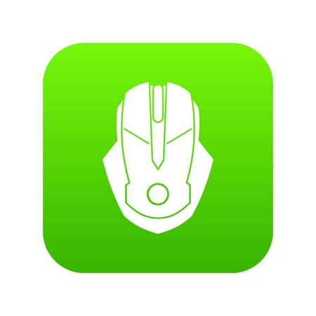 Computer mouse icon digital green