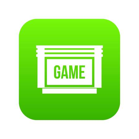 Cartuccia di gioco icona verde digitale