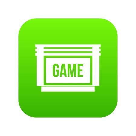 Game cartridge icon digital green