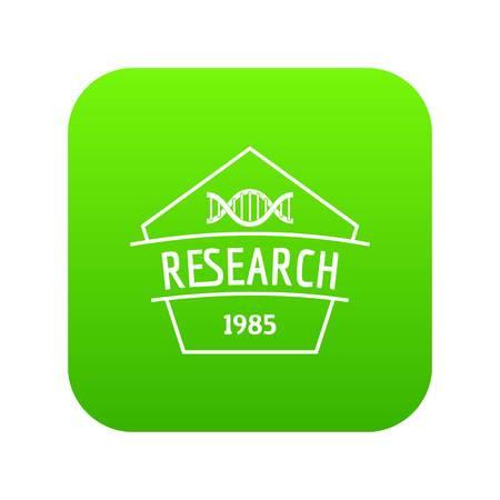 Gmo free research icon green vector