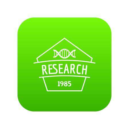 Gmo free research icon green vector