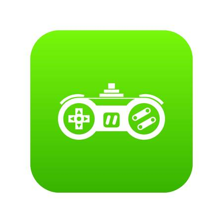 Gamepad icon digital green Illustration