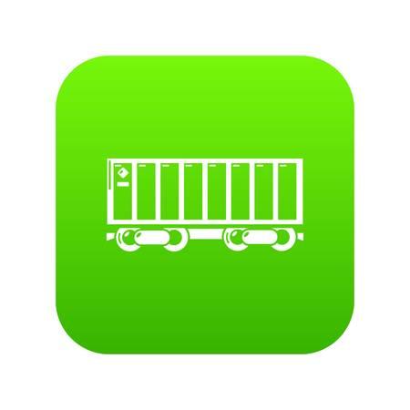 Freight train icon green vector Standard-Bild - 102260662