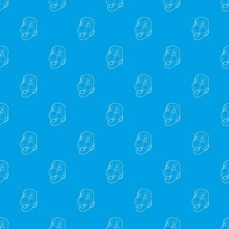 Clown mask pattern vector seamless blue