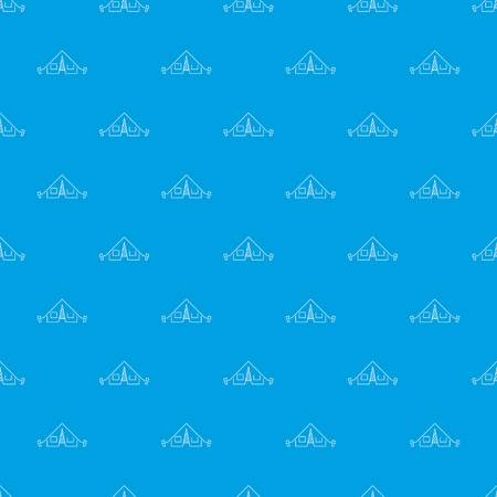 Tent pattern vector seamless blue repeat for any use Ilustração