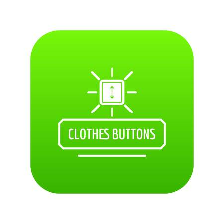 Clothes button icon green vector isolated on white background 일러스트
