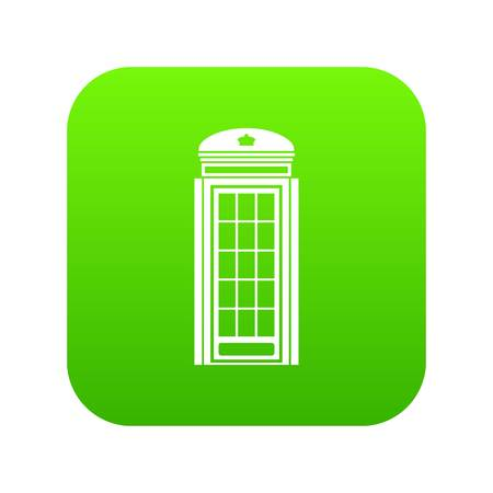 Phone booth icon digital green for any design isolated on white vector illustration Illustration