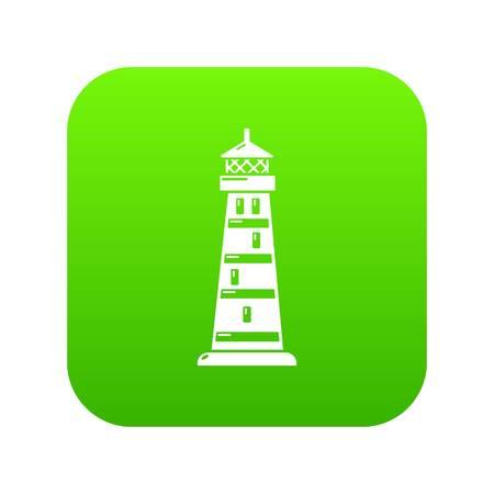 Icono de luz de noche vector verde aislado sobre fondo blanco.