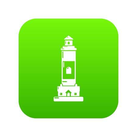 Baliza icono vector verde aislado sobre fondo blanco.
