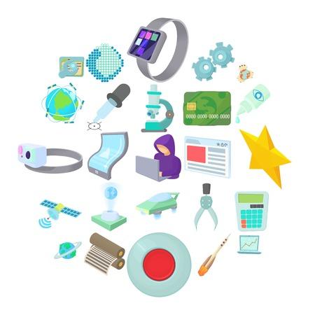 Novelty icons set. Cartoon set of 25 novelty vector icons for web isolated on white background Illustration