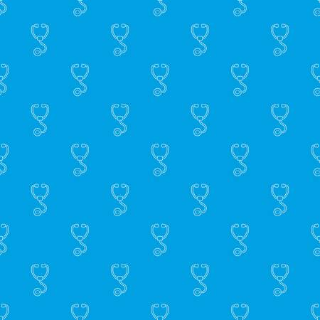 Stethoscope pattern vector seamless blue repeat for any use Illustration