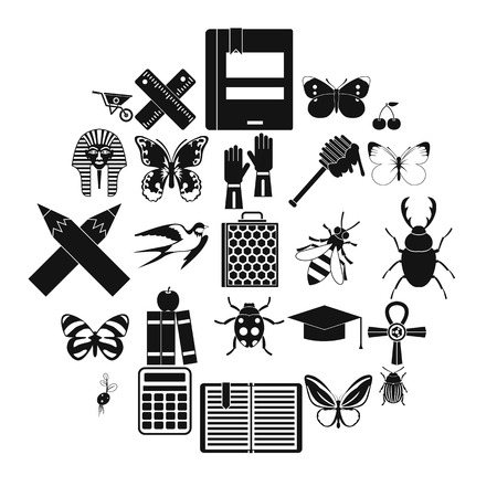Hexapod icons set, simple style Stock Vector - 102359911