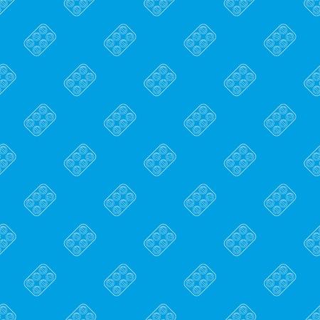 Pills pattern vector seamless blue
