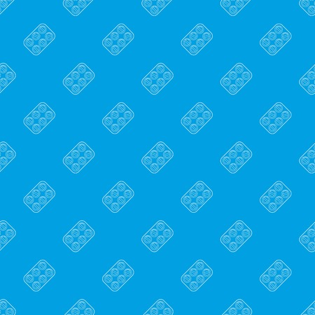 Pills pattern vector seamless blue