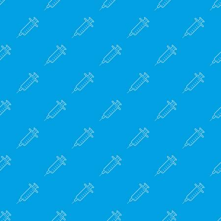 Syringe pattern vector seamless blue