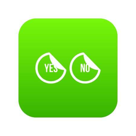 Oui et non boutons icône vert numérique