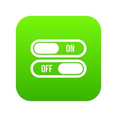 Bouton marche et arrêt icône numérique vert