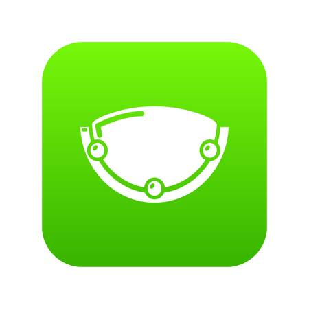 Oval lamp icon green vector Banque d'images - 102360469