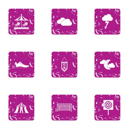 Prank icons set. Grunge set of 9 prank vector icons for web isolated on white background Illustration