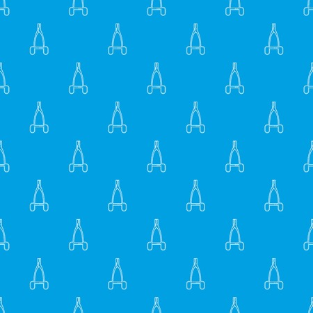 Medical pliers pattern vector seamless blue