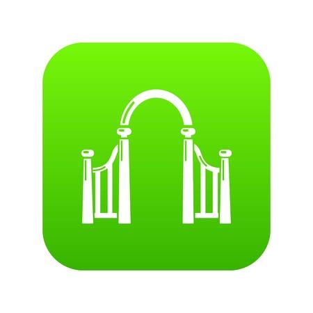 Archway metal icon green vector