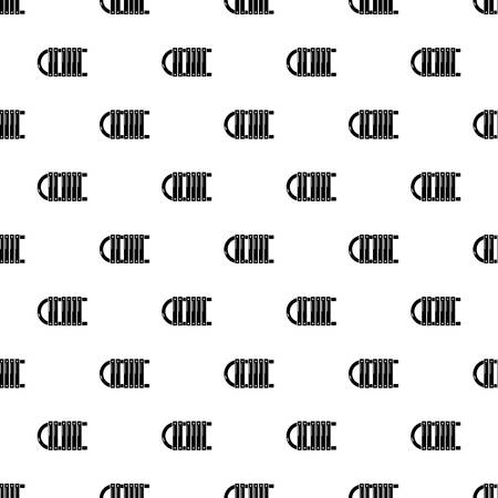 Sled icon, simple black style Illustration