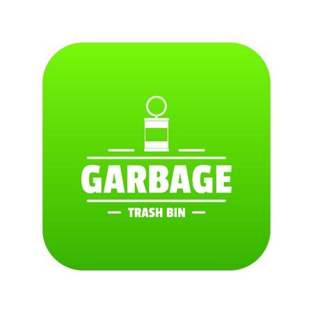 ゴミ箱ゴミアイコン緑ベクトル
