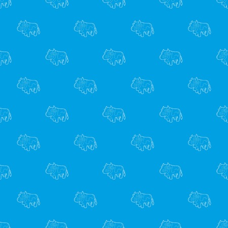 Cow pattern vector seamless blue