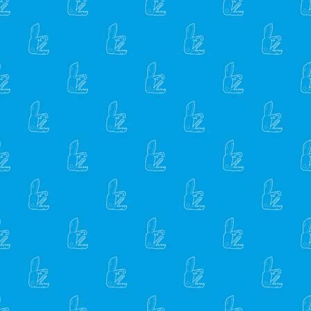 Penknife pattern vector seamless blue