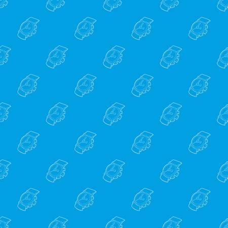 Watch pattern vector seamless blue
