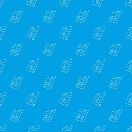 Mobile phone pattern vector seamless blue  イラスト・ベクター素材