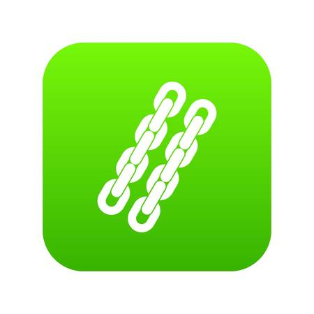 Chains icon digital green