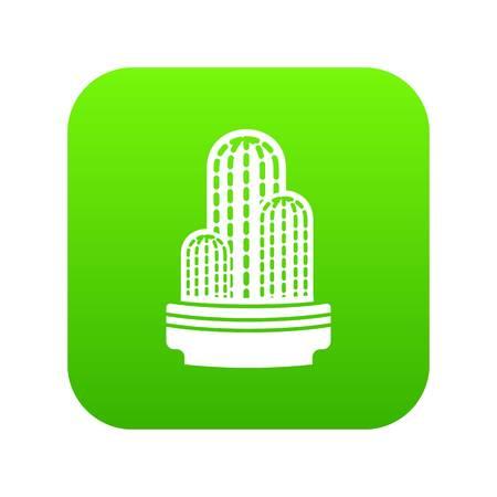 Mexican cactus icon green vector