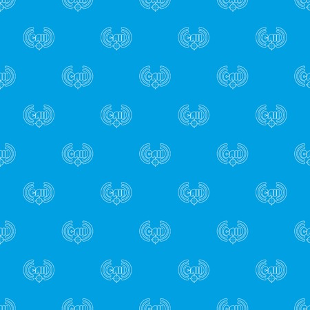 Call pattern vector seamless blue