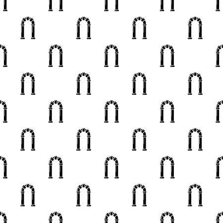 Archway ancient icon, simple black style Illusztráció