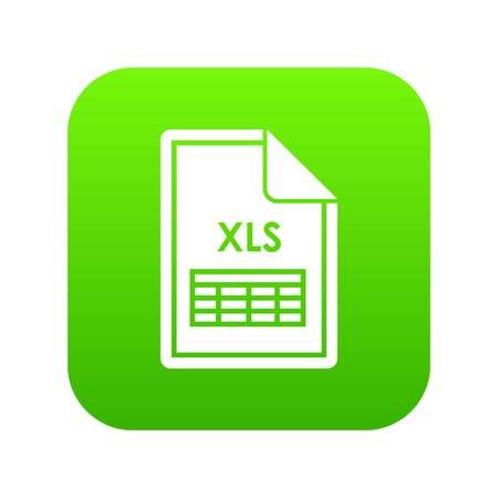 File XLS icon digital green