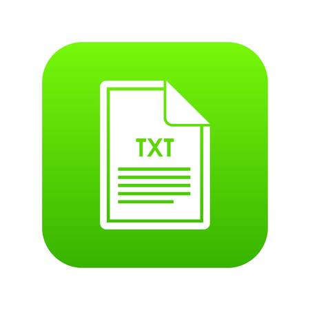 File TXT icon digital green