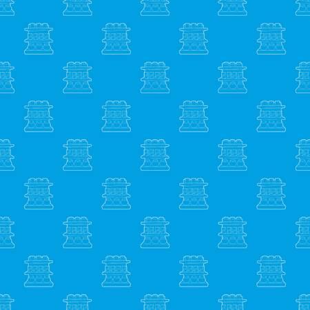 Shop shelves pattern vector seamless blue Illustration